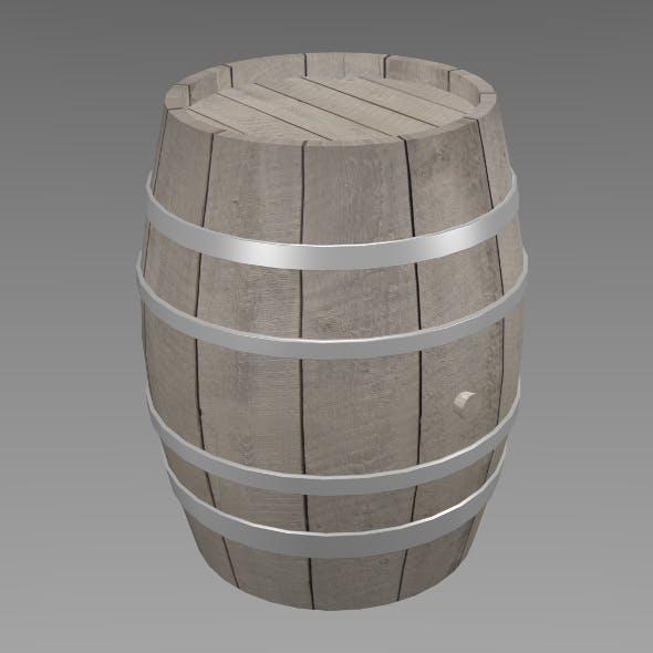 Wood barrel - 3DOcean Item for Sale