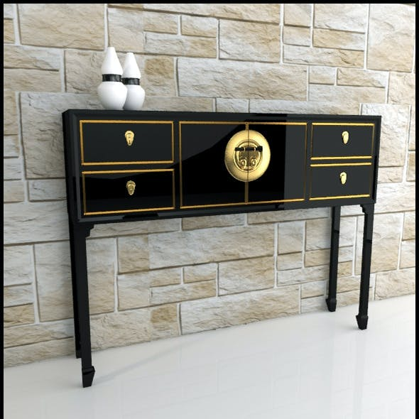 Oriental console table / sideboard