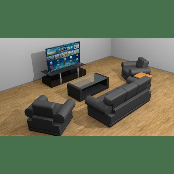 Simple living room set - 3DOcean Item for Sale