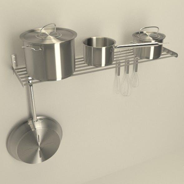 Kitchen Rack Scene - 3DOcean Item for Sale