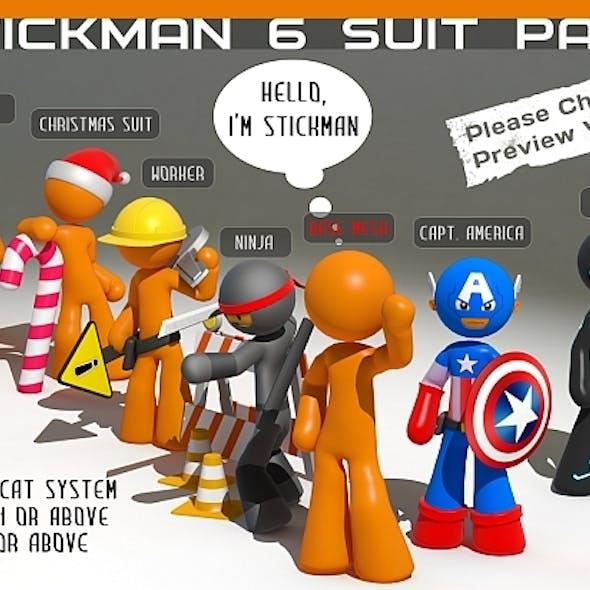 Stickman - 6 suit pack - Full Rig