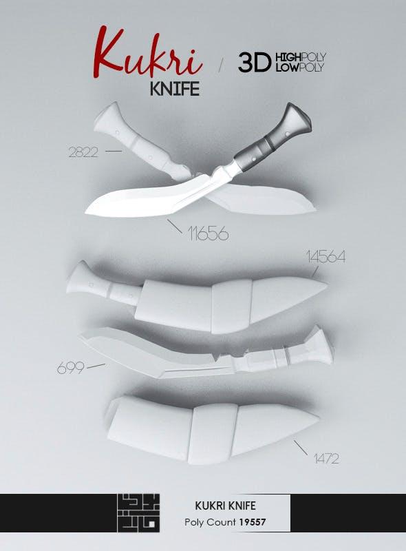 Kukri Knife 3D Model - 3DOcean Item for Sale