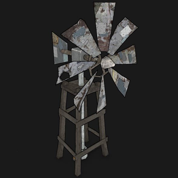 POSTAPO WINDMILL - 3DOcean Item for Sale