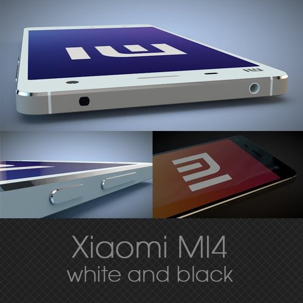 Xiaomi MI4 white and black 3D model