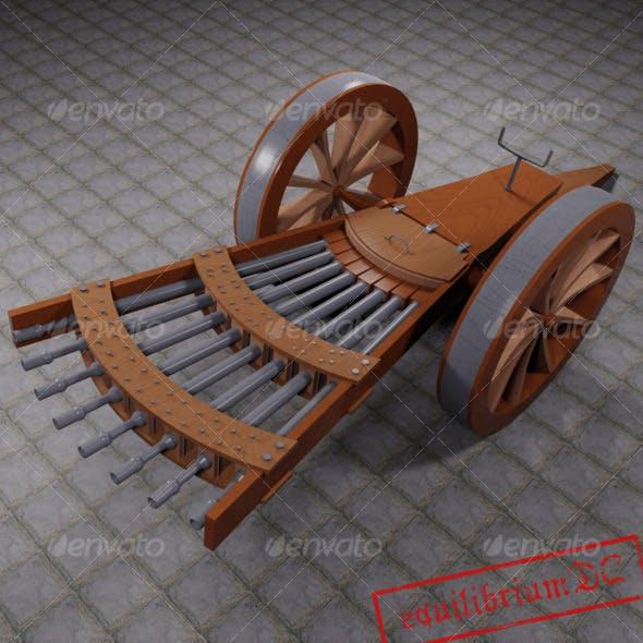 Da Vinci's Machine Gun - 3DOcean Item for Sale