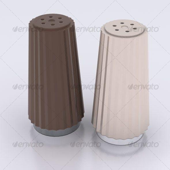 Salt & Pepper Shakers - 3DOcean Item for Sale