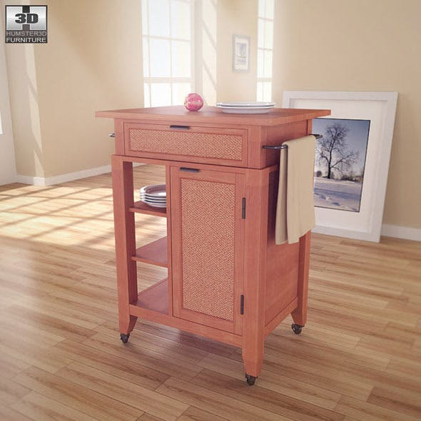 Jamaican Bay Small Kitchen Cart - Home Styles  - 3DOcean Item for Sale