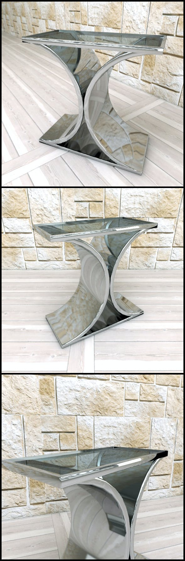 Andrew Martin: Brion Side Table - 3DOcean Item for Sale
