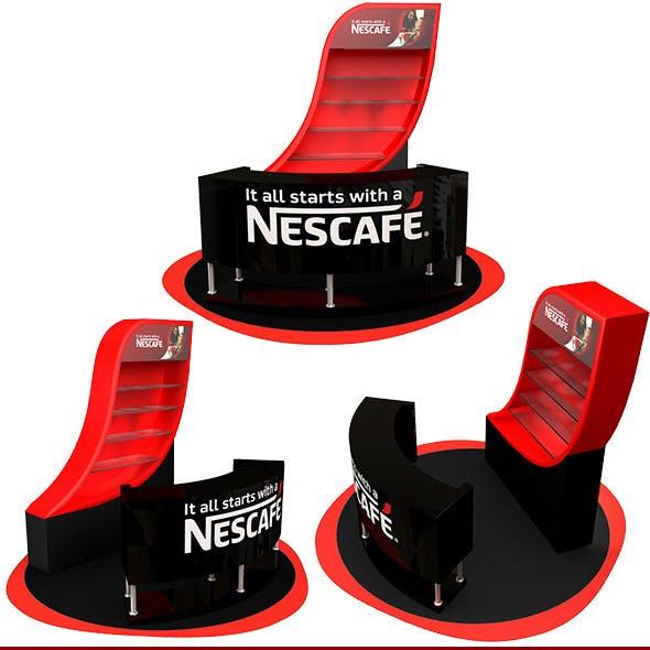 Nescafe Sampling Counter 3D visualizing
