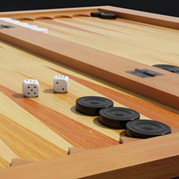 Backgammon 3D Model - 3DOcean Item for Sale