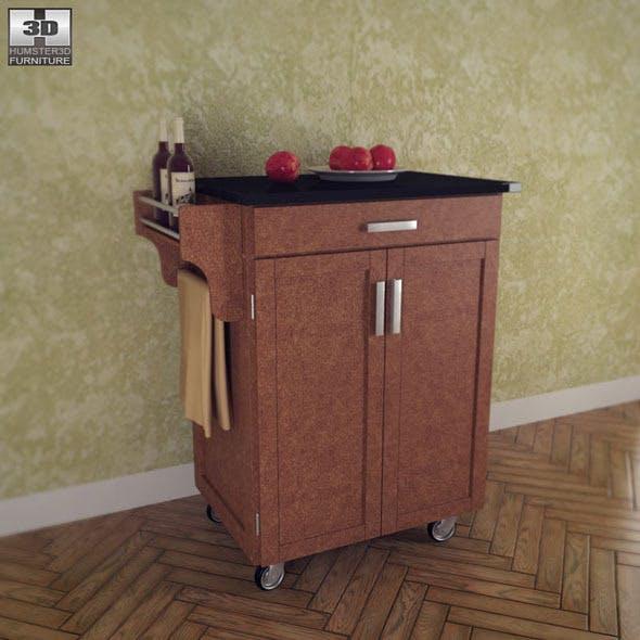 Kitchen Cart - Cottage Oak Wood - Home Styles  - 3DOcean Item for Sale