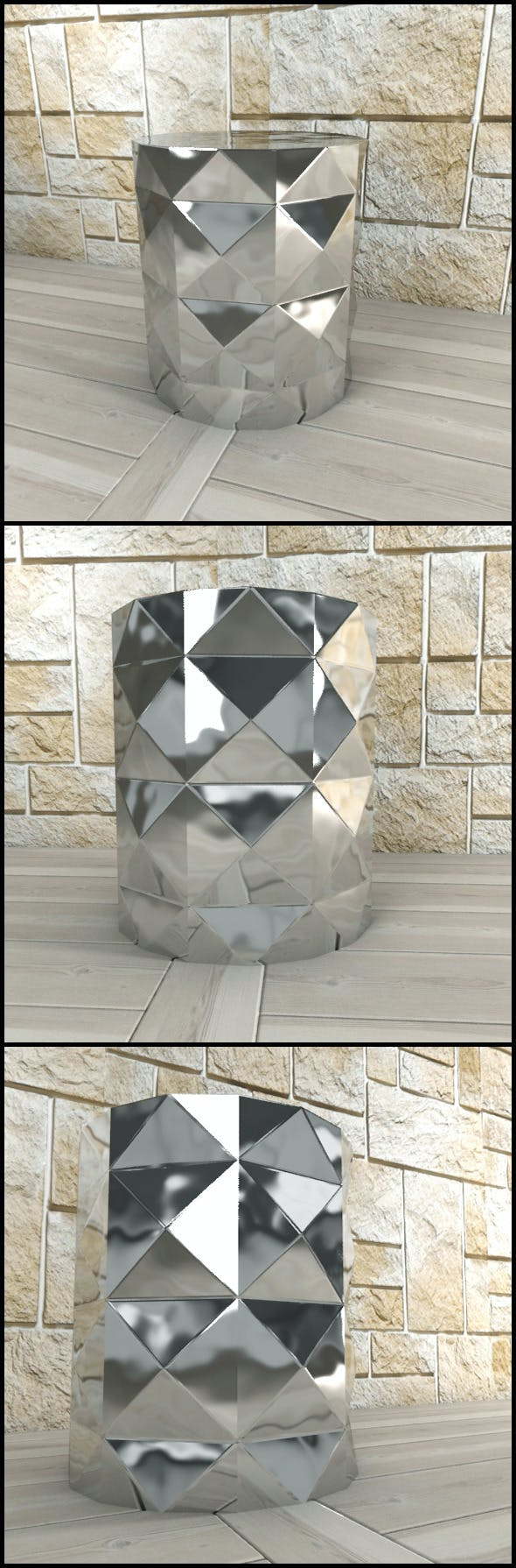 Andrew Martin: Dipoli Side Table (Steel) - 3DOcean Item for Sale