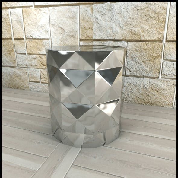 Andrew Martin: Dipoli Side Table (Steel)