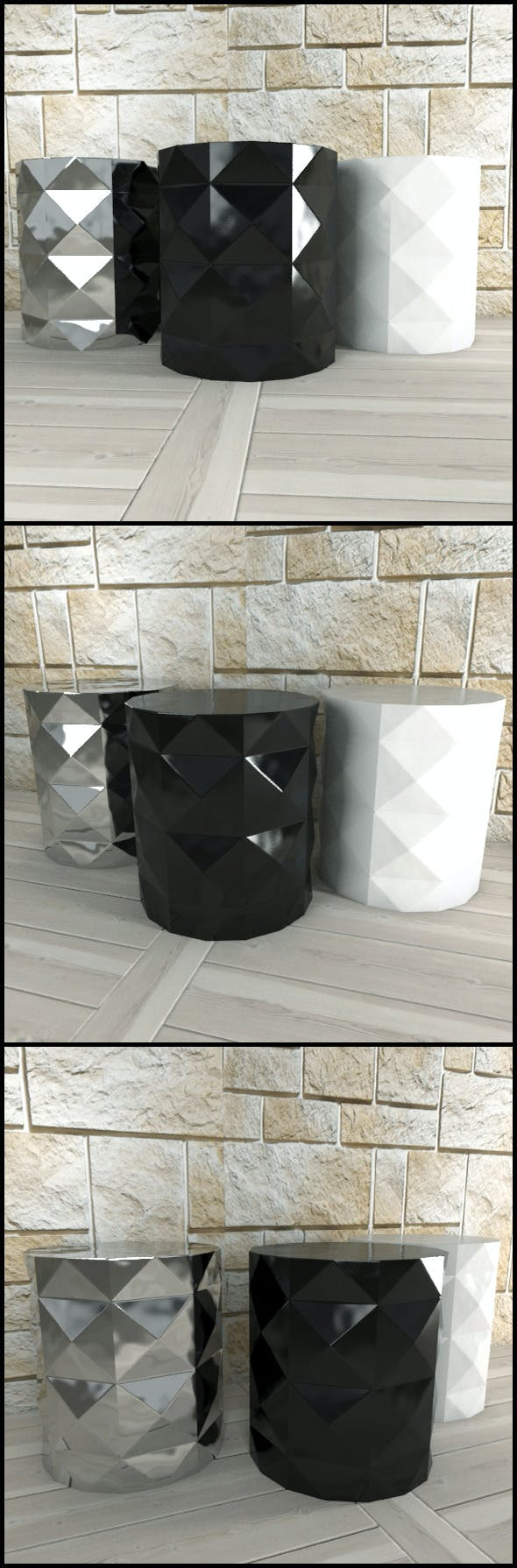 Andrew Martin: 3 Dipoli Side Tables - 3DOcean Item for Sale