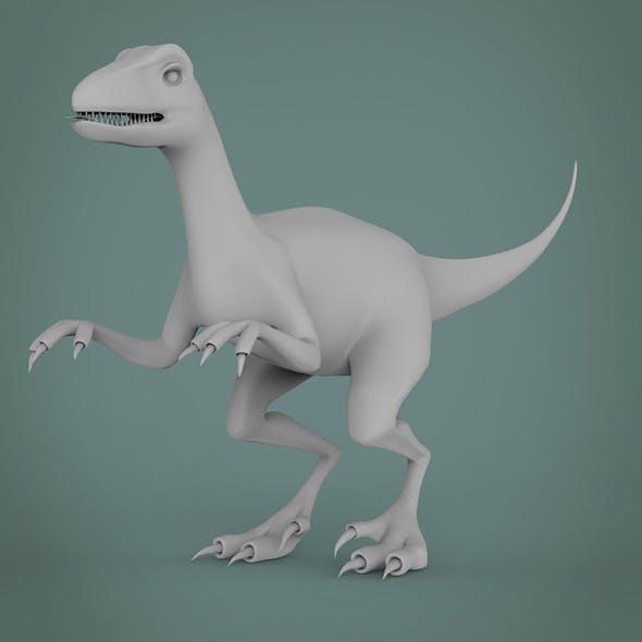veloster raptor dinosaur base model - 3DOcean Item for Sale