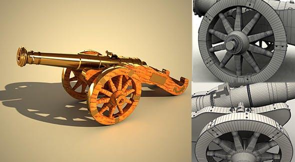Cannon Miniature - 3DOcean Item for Sale