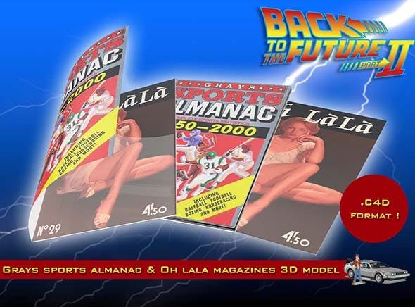 Grays Sports Almanac & Oh Lala Magazines - 3DOcean Item for Sale