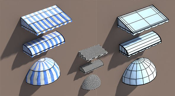 Awning Misc Architecture 3d Low poly Model - 3DOcean Item for Sale