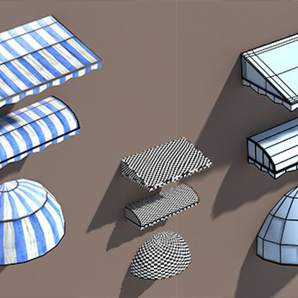 Awning Misc Architecture 3d Low poly Model