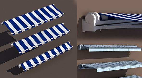 Awning 3 types - 3DOcean Item for Sale
