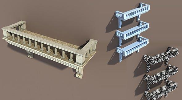 Balkony Low poly 3d Model LOD - 3DOcean Item for Sale