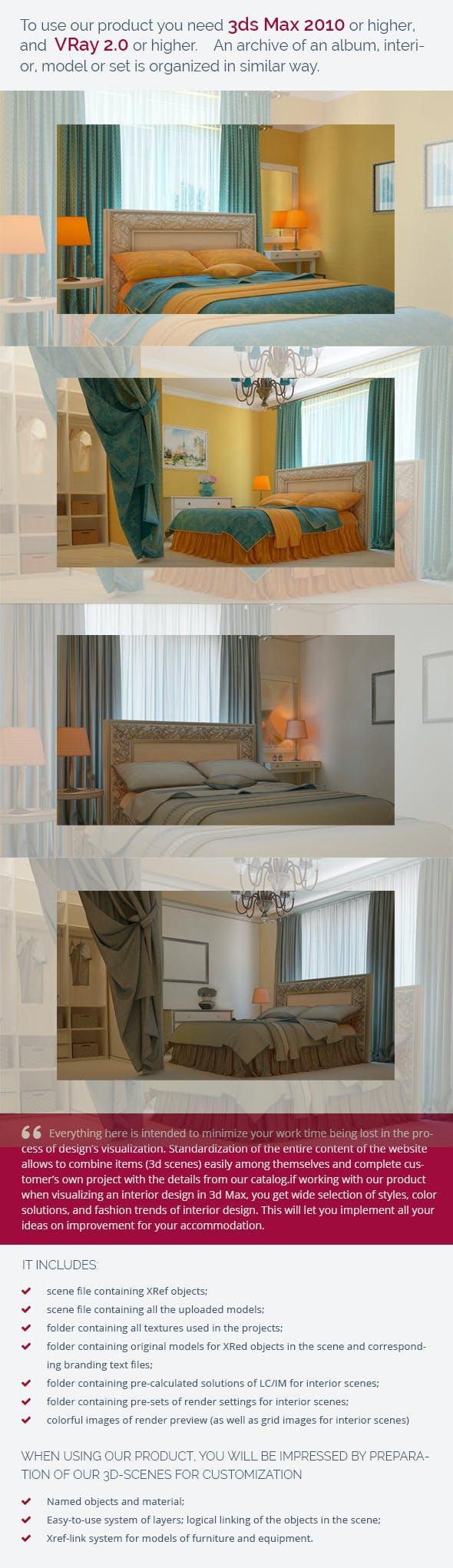 Bedroom 0093 - 3DOcean Item for Sale