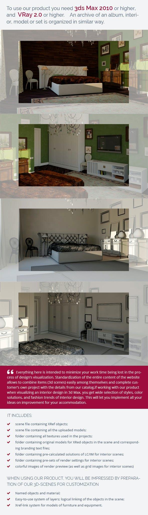 Bedroom 0362 - 3DOcean Item for Sale