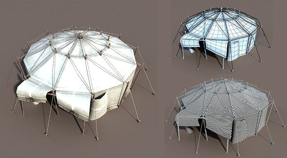 Circus Tent White - 3DOcean Item for Sale
