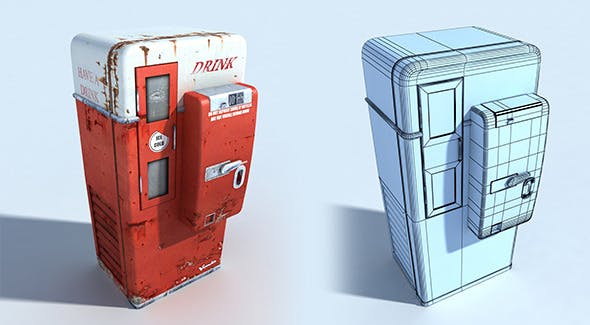 Old Rusty Drink Machine - 3DOcean Item for Sale
