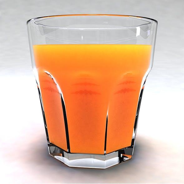 Glass with Orange Juice - 3DOcean Item for Sale