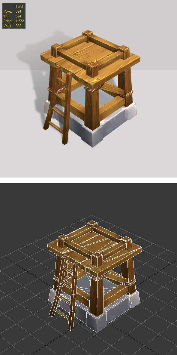 Wooden Tower lvl1 - 3DOcean Item for Sale