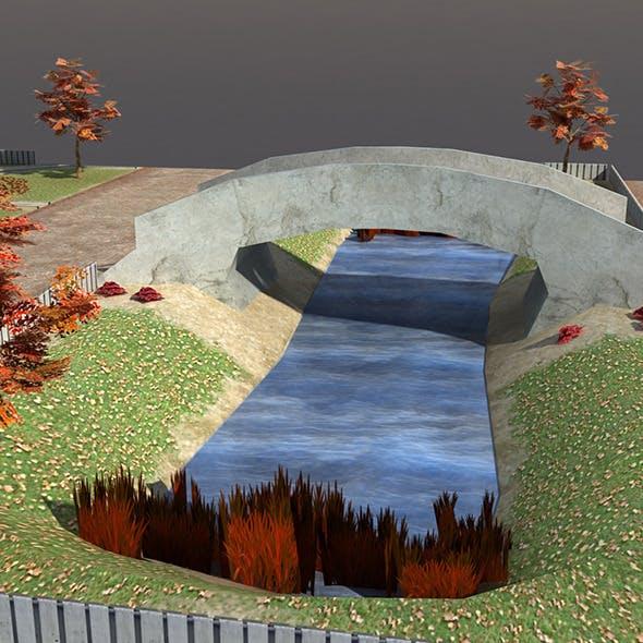 Low poly Park Autumn - 3DOcean Item for Sale