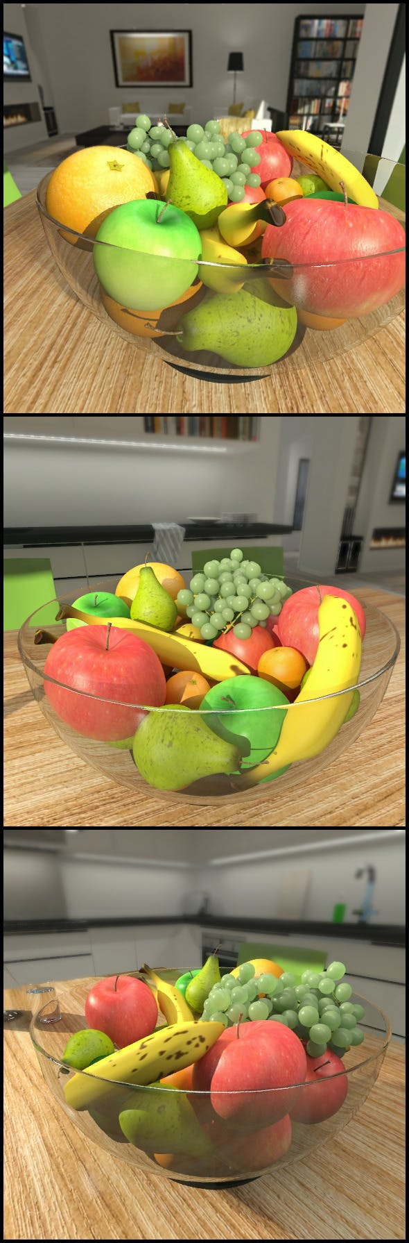 Bowl of fruit - 3DOcean Item for Sale