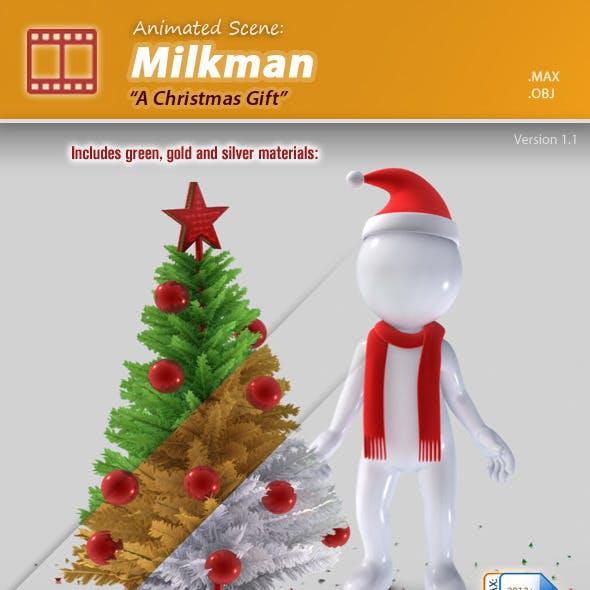 Animated Scene : Milkman - A Christmas Gift