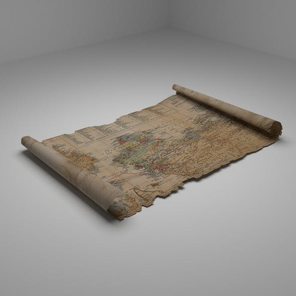 Old Map - 3DOcean Item for Sale