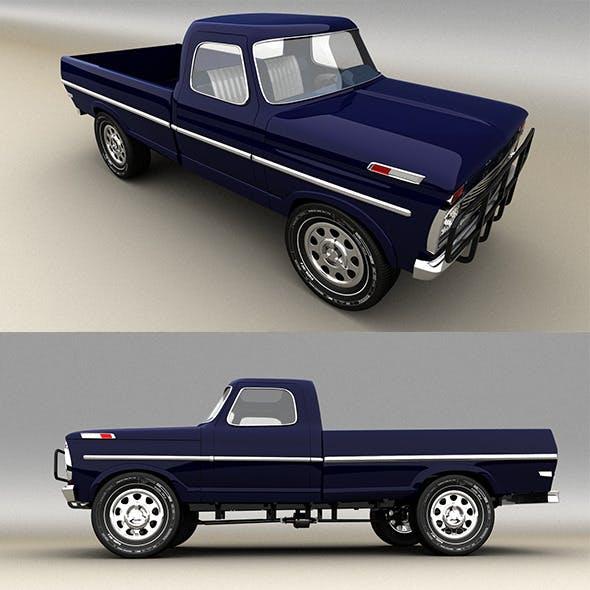 Blue Pickup - 3DOcean Item for Sale