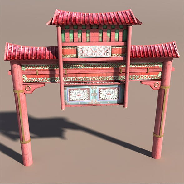 China Town Portal - 3DOcean Item for Sale