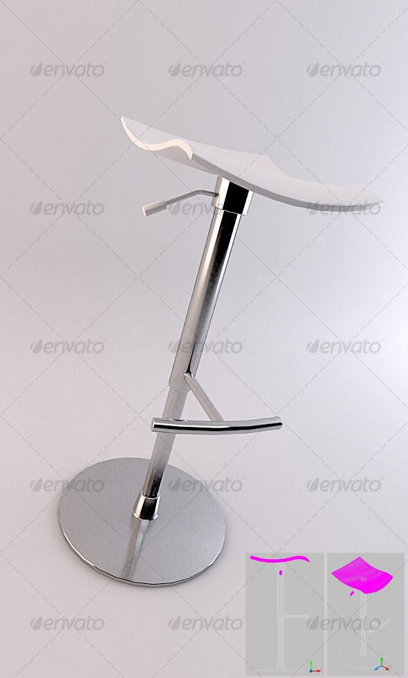SET 01 - Bar Stool 1 - 3DOcean Item for Sale