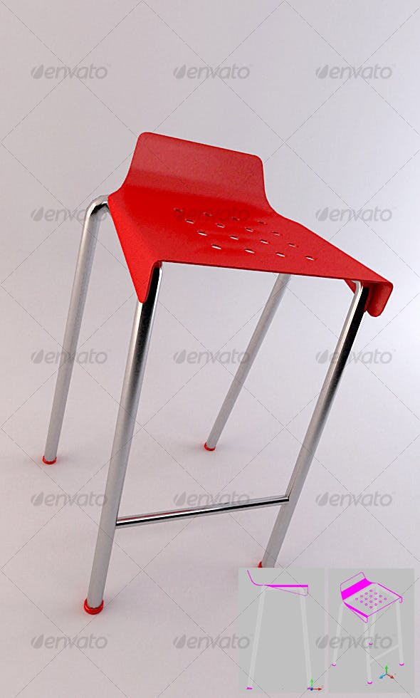 SET 01 - Bar Stool 2 - 3DOcean Item for Sale