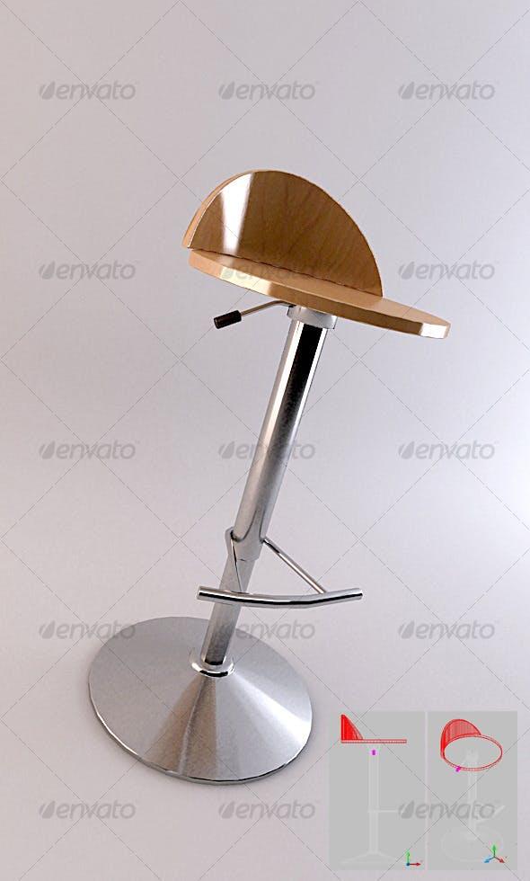 SET 01 - Bar Stool 4 - 3DOcean Item for Sale
