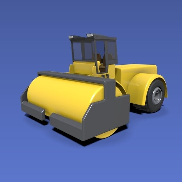 Road roller construction vehicle - 3DOcean Item for Sale