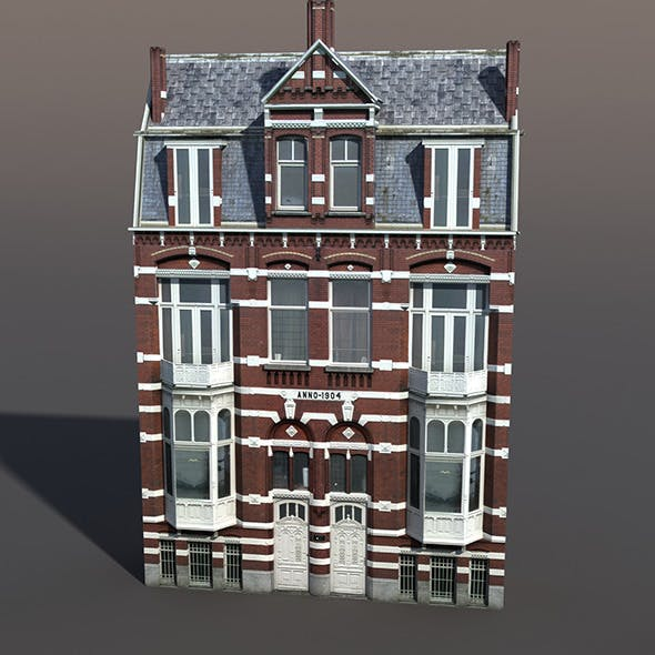Apartment house #45 Low Poly 3d Model - 3DOcean Item for Sale