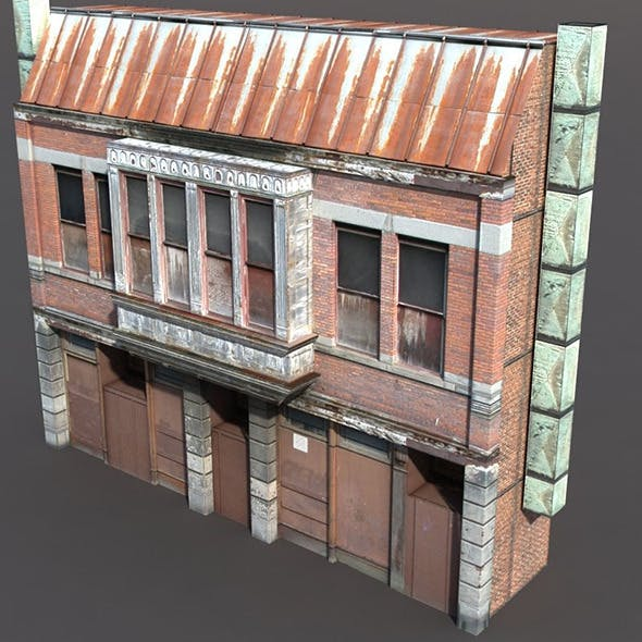 Derelict House Low Poly - 3DOcean Item for Sale