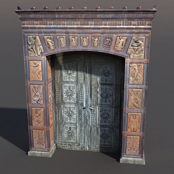 Decorative Door - 3DOcean Item for Sale