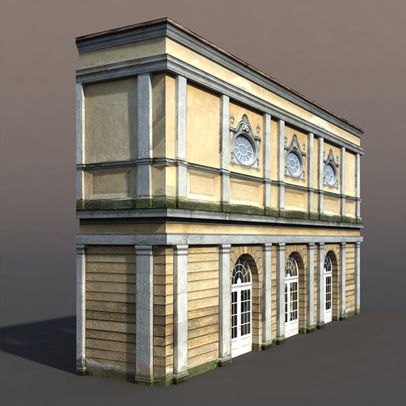 Apartment House #61 Low Poly 3d Model - 3DOcean Item for Sale