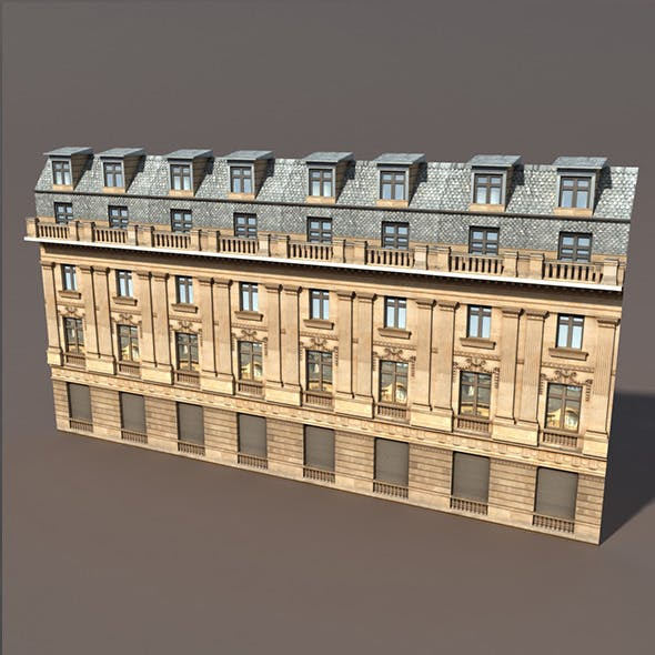 Apartment House #68 Low Poly 3d Model - 3DOcean Item for Sale