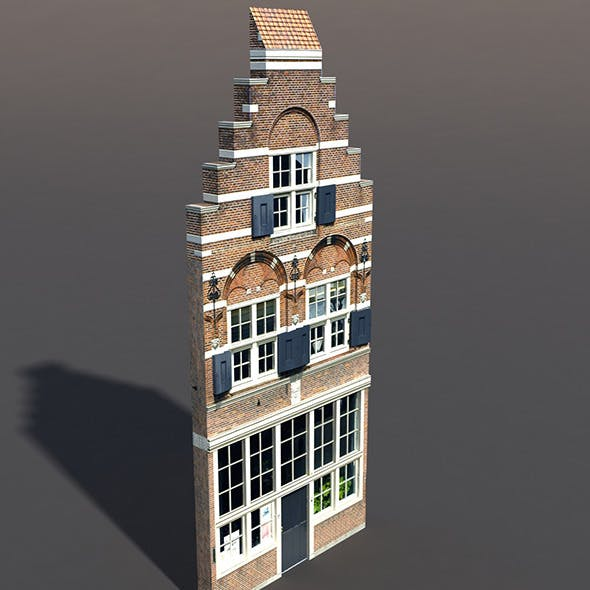 Apartment House #69 Low Poly 3d Model
