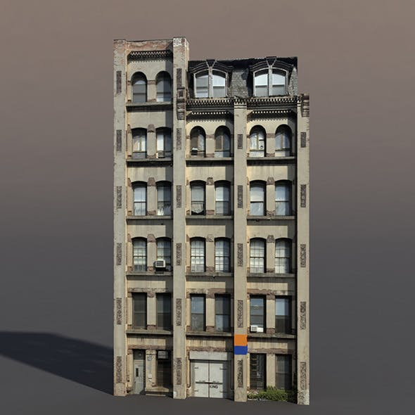 Apartment House #72 Low Poly 3d Model - 3DOcean Item for Sale