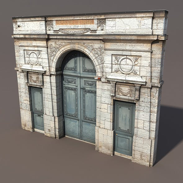 Door Portal Low poly 3d Model