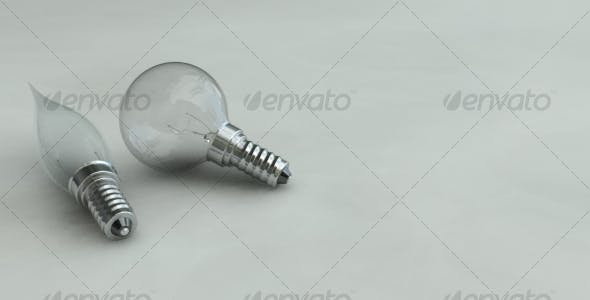 Photorealistic Light Bulbs - 3DOcean Item for Sale
